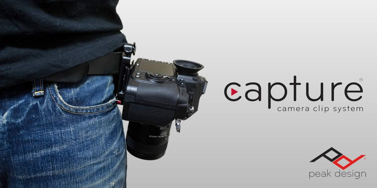 ワンタッチでカメラを固定!クイック脱着システム「Capture」