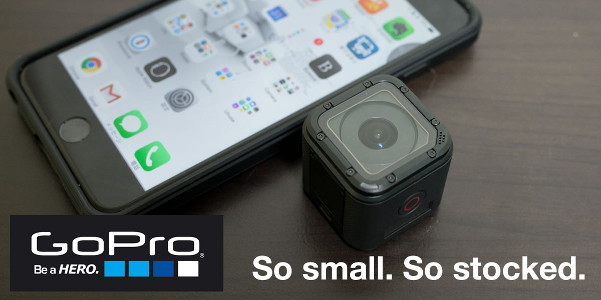 GoProの最新モデル「GoPro HERO4 Session」を使ってみた